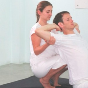 Lucy and Henry modelling for a new Thai Massage text book at SVG Thai Massage Training Center