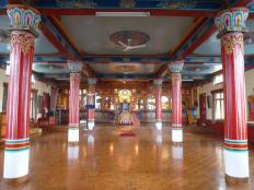 Inside Kopan monastery. This is the meditation hall where visitors could attend teachings. I only stayed for 3 days but it was a wonderful sanctuary. The monastery is still standing but there is a lot of work to do repairing damage to walls.