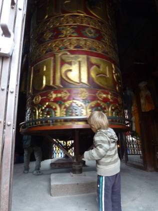 This is a Very Big prayer wheel.
