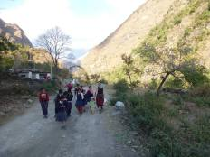 ... we met a lot of school children while trekking in Nepal - many walk miles a day up and down mountains to attend lessons.